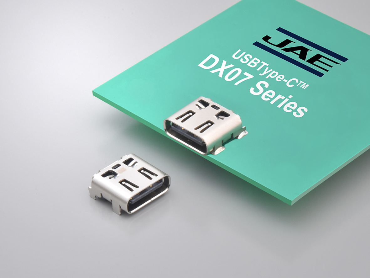 USB Type-C™ Receptacle with Longer Through-hole Legs Connevtor DX07 Series