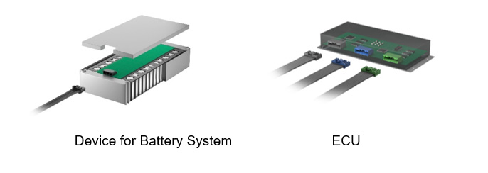 Use Case Example of Connectors for Battery System ECU's