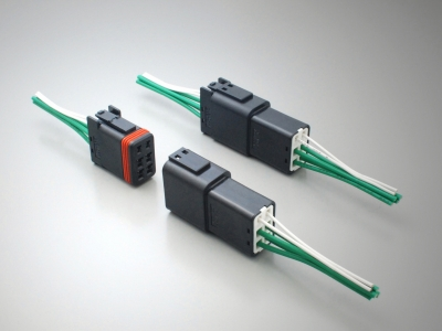 HB01 series Waterproof Cable-to-Cable Connector for Industrial Machinery by JAE electronics